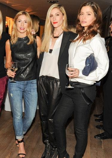 Joanna Hillman (centre), senior fashion market editor at US Harper's Bazaar, caught up with two friends. Source: Facebook user Harper's Bazaar