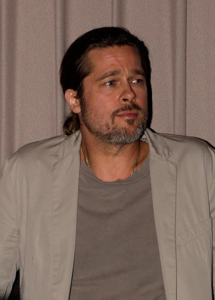 "Brad Pitt Goes Solo For a Screening and Talks About His ""Drug Days"""