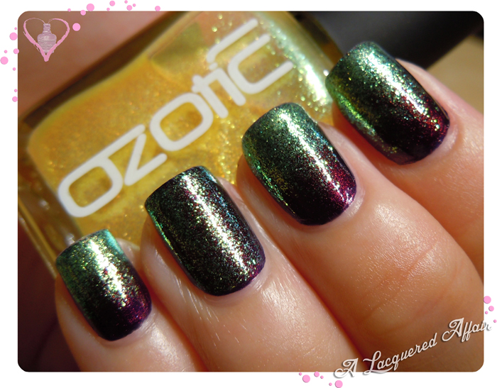 OZOTIC Sugar 904 over OPI Every Month Is Oktoberfest