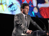 Jon Hamm spoke at the Reel Stories, Real Lives event in LA.