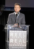 Jeremy Renner spoke at the Reel Stories, Real Lives benefit in LA.