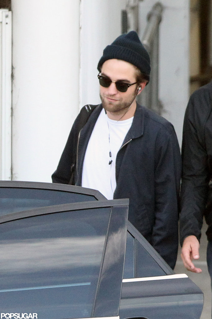 Robert Pattinson got into the car in Sydney.