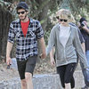 Andrew Garfield and Emma Stone Show PDA Hiking | Pictures
