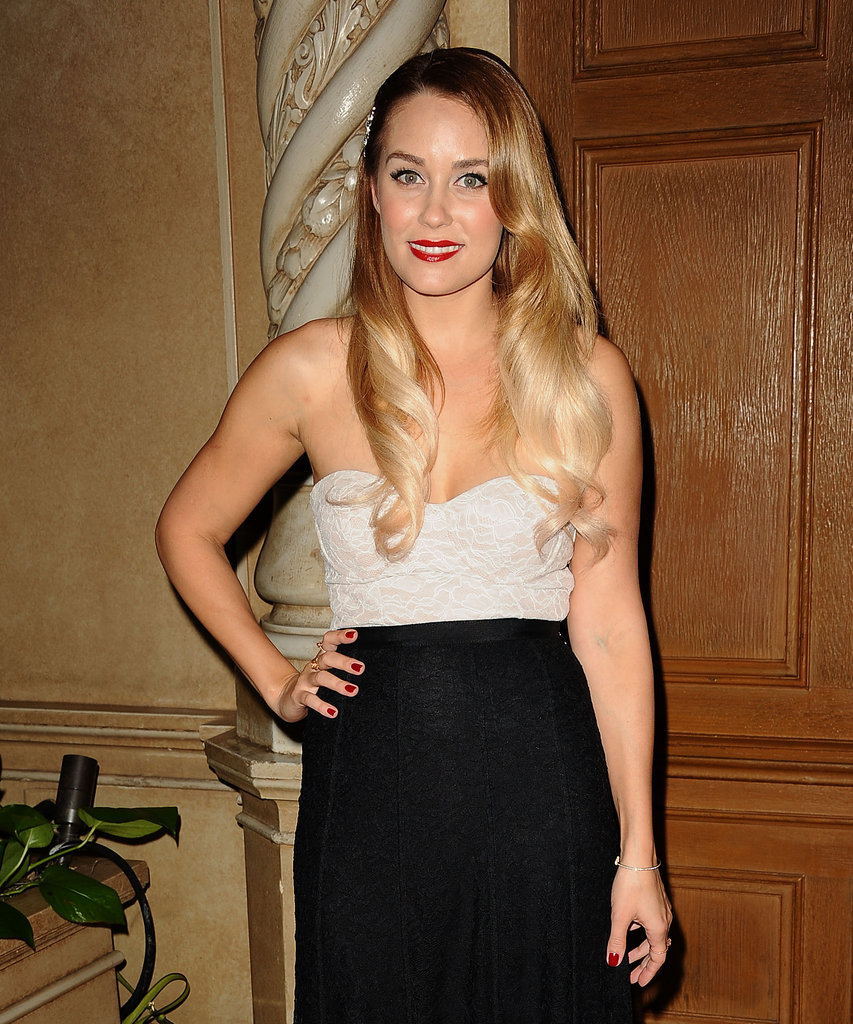 Lauren Conrad posed for photos at the gala in LA.