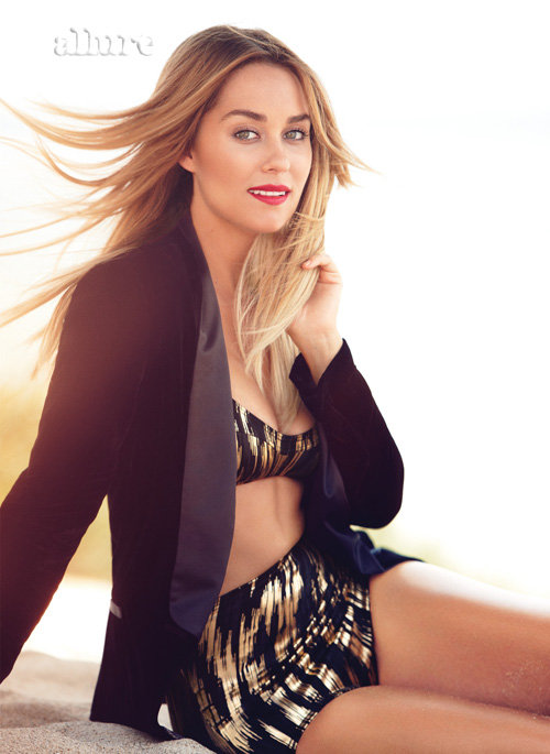 Lauren Conrad wore red lipstick in Allure.