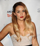 Lauren Conrad chose a red lip for the event in LA.