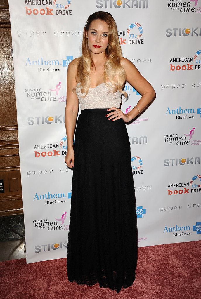 Lauren Conrad stepped out in LA for the Susan G. Komen foundation's Designs For the Cure gala in LA.