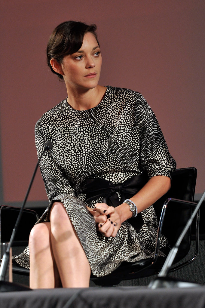 Marion Cotillard attended a screen talk as part of the London Film Festival.