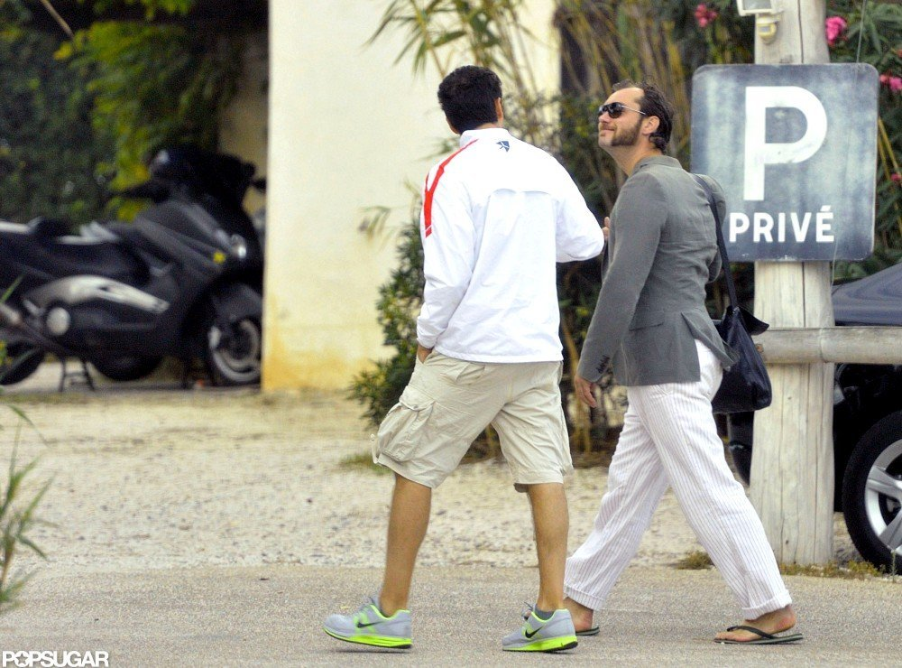 Jude Law strolled in the South of France.
