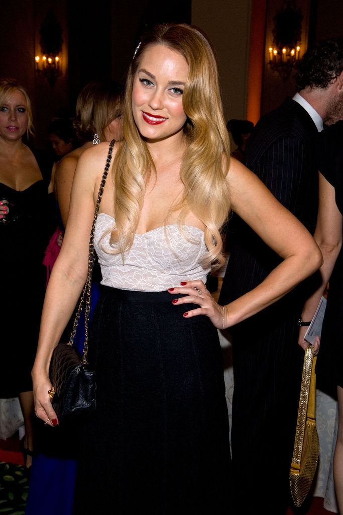 Lauren Conrad posed at the Susan G. Komen foundation's gala in LA.