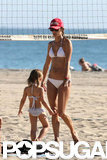 Alessandra Ambrosio Juggles Bikini Time With a Pumpkin Patch Playdate