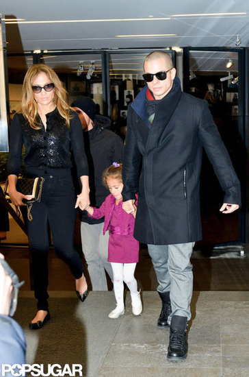 J Lo Shops Paris With Casper and Emme