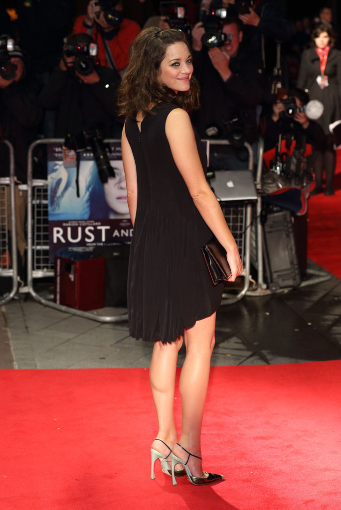 Marion Cotillard attended the London Film Festival premiere of Rust and Bone.
