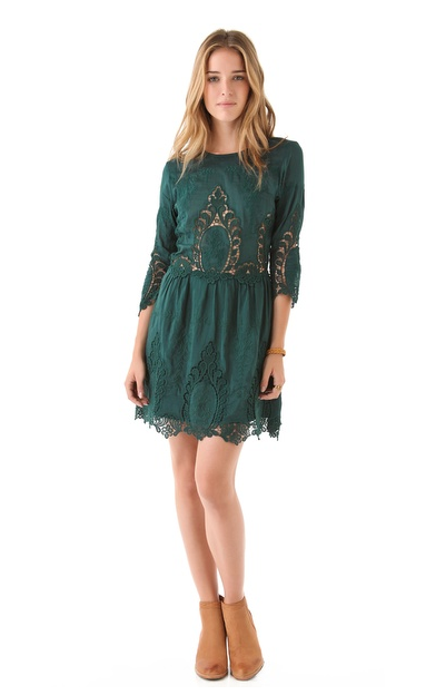 Lace takes a little bit of a bohemian vibe on this Dolce Vita Valentina Lace Dress ($275), perfect for your more casual looks, when you finish it with suede ankle boots and a leather jacket.