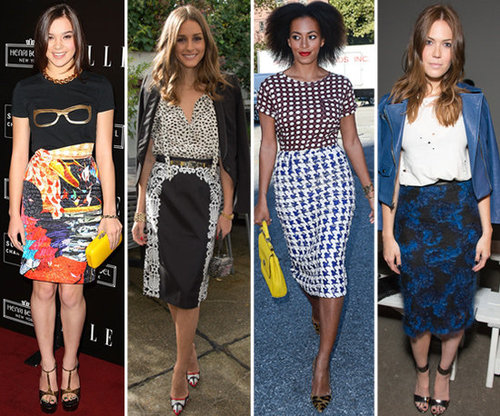 Printed Pencil Skirts | Celeb Pictures and Shopping