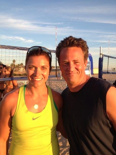 "Looks like Go On is headed to the beach! Matthew Perry commented, ""Beach volleyball all day with Misty May Treanor. This continues to be the best job ever. #GoOn"" Source: Twitter user Matthew Perry"
