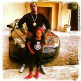 Diddy struck a pose with his daughter. Source: Instagram user iamdiddy