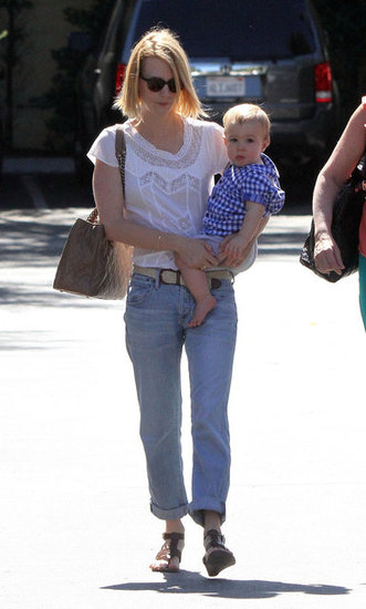 January Jones Has a Mother-Son Lunch With Xander