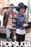 Katy Perry and John Mayer stopped for lunch in NYC.