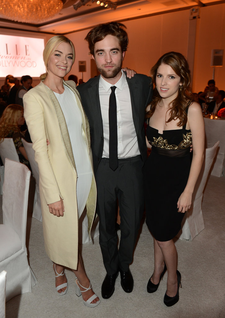 Robert Pattinson posed for photos with Jaime King and Anna Kendrick at the Elle Women in Hollywood Awards.