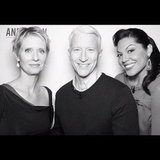Cynthia Nixon and Sara Ramirez took a photo with Anderson Cooper. Source: Instagram user andersoncooper