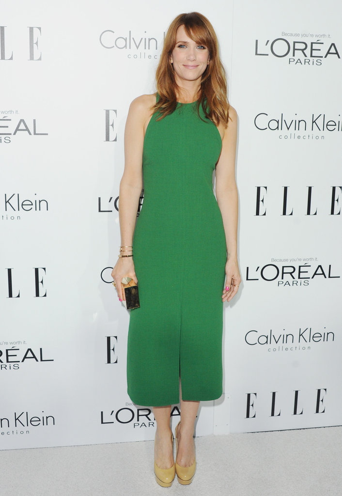 Kristen Wiig chose a green dress for the Elle Women in Hollywood Awards in LA.