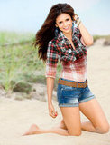 Nina Dobrev posed for Self.