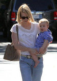 January Jones and Xander Jones had a lunch date in Pasadena.