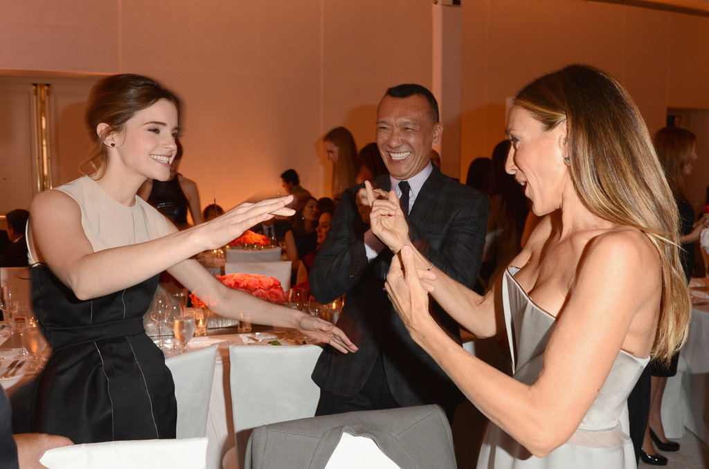 Emma Watson and Sarah Jessica Parker chatted at the Elle Women in Hollywood Awards.