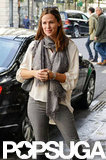 Jennifer Garner smiled in Paris.
