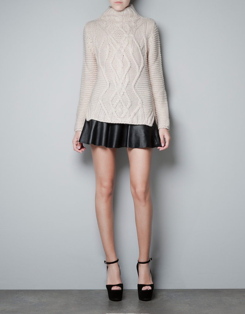 Everything about this Zara turtleneck sweater ($80) reminds us of Gwyneth Paltrow's impeccably cool styling MO — wear it with a flare-hemmed skirt, black tights, and lace-up booties for the complete look.