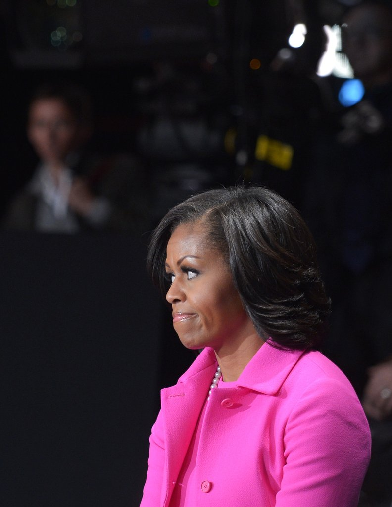 Matching Michelle Obama and Ann Romney Support Husbands at Debate