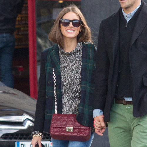 Olivia Palermo Wearing Plaid Blazer