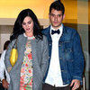 Katy Perry Wearing Floral Sheath Dress