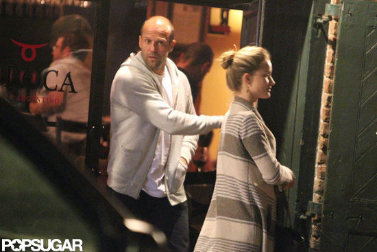 Jason Statham and Rosie Huntington-Whiteley grabbed dinner in New Orleans.