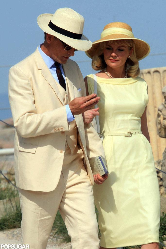 Kirsten Dunst and Viggo Mortensen were spotted on set in Greece.