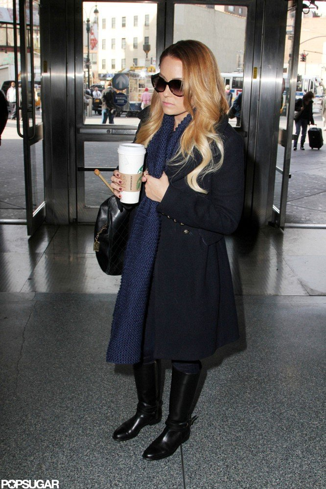 Lauren Conrad went to Penn Station.