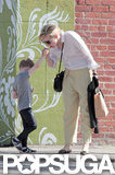 Cate Blanchett and her son grabbed ice cream in LA.