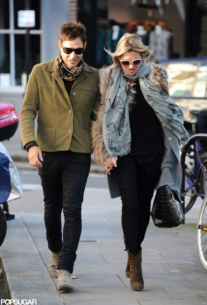 Kate Moss and Jamie Hince walked together in London.