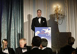 Prince William gave a speech at The October Club dinner in London.