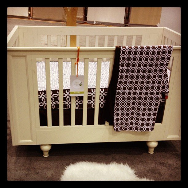 Dutailier is introducing new cribs that are a cross between traditional and modern design.