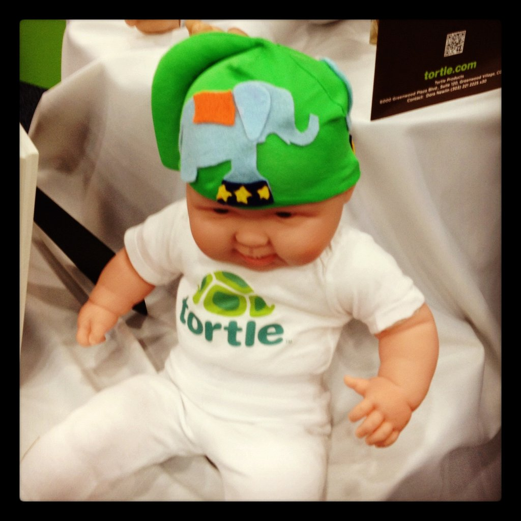 The Tortle is a cap designed to encourage babies to roll their heads from side to side to prevent flat-head syndrome.