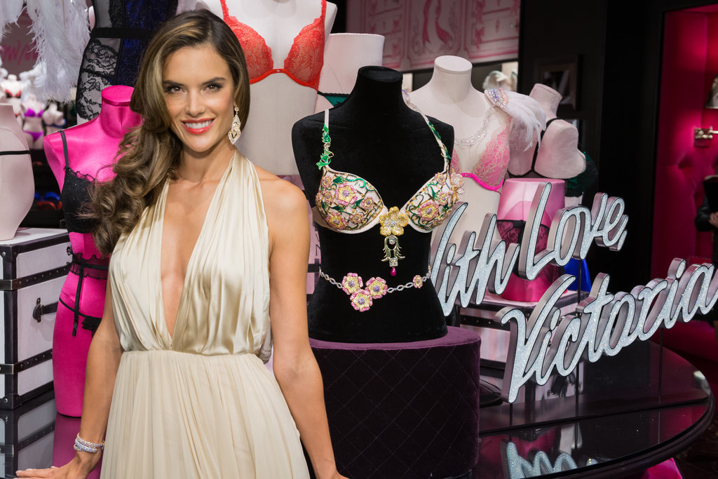 """Alessandra Is the """"Luckiest Girl in the World"""" to Model the VS Fantasy Bra"""