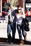 Justin Timberlake had his arm around Jessica Biel when they grabbed lunch in LA in January 2009.