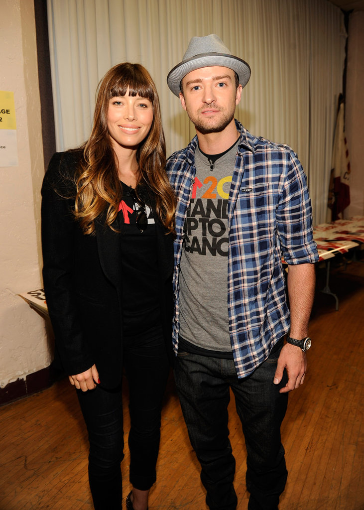 Justin Timberlake and Jessica Biel got together to support Stand Up to Cancer in LA in September 2012.