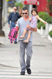 Freddie Prinze Jr. took his daughter Charlotte to school in LA.