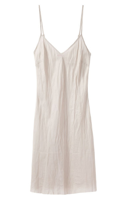 For the lingerie minimalist, this Organic by John Patrick Bias Slip ($120) is just the thing.