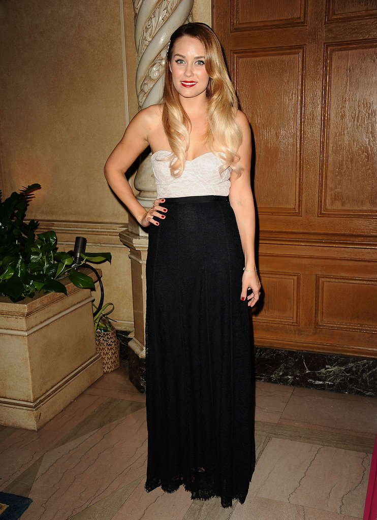 Lauren Conrad glammed up in her own Paper Crown collection for the Designs for the Cure Gala in LA.