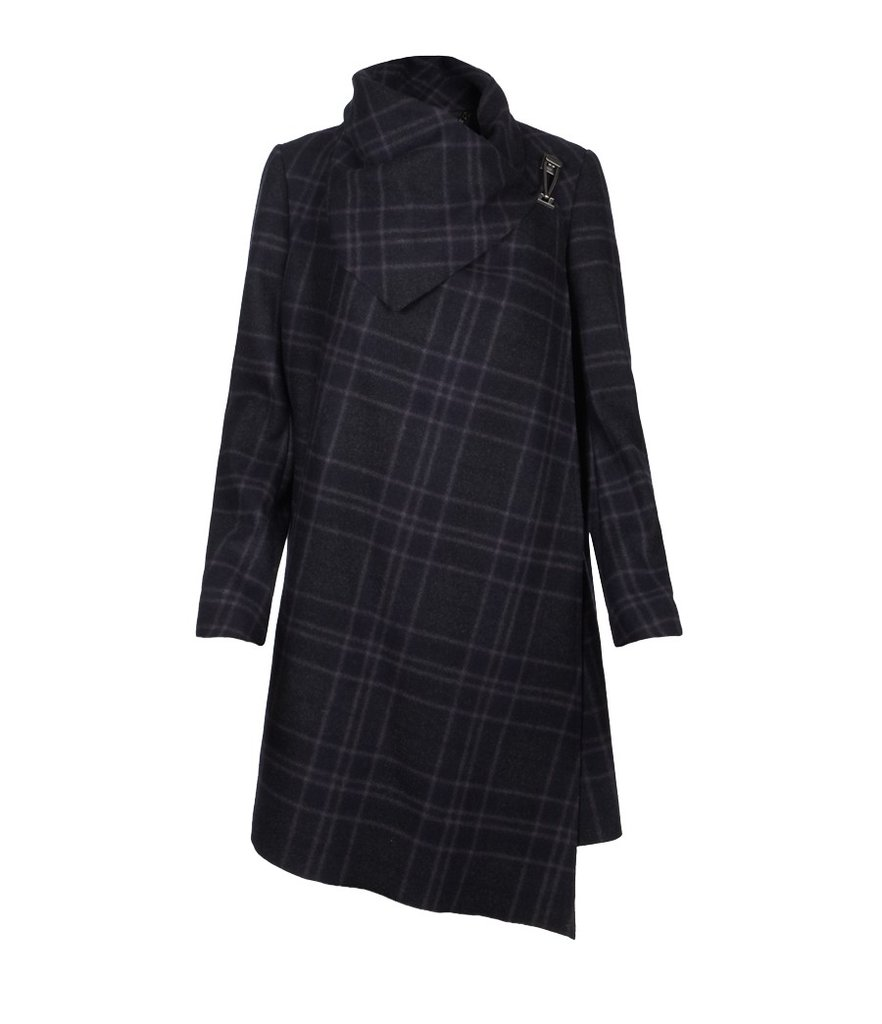 A Statement Plaid Coat