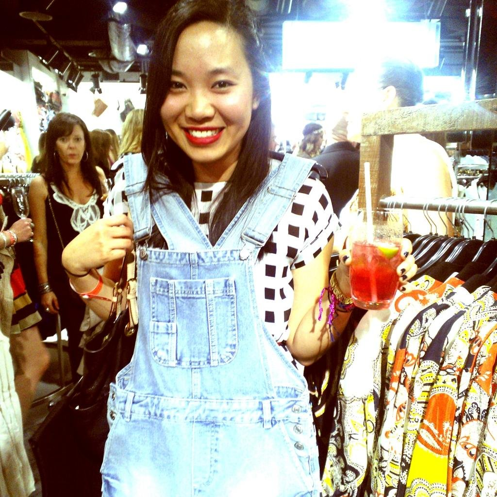 Jess tried to get her Alexa-on at the Topshop launch with these denim overalls. Whaddyathink?